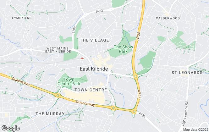 Map for Bensons Estate Agents, East Kilbride