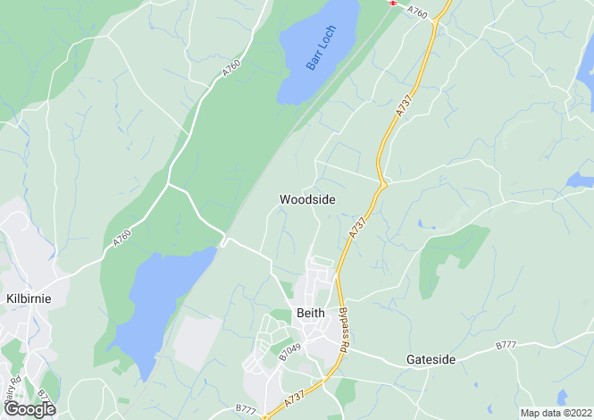 Map for Woodside Farmhouse, Beith, Ayrshire