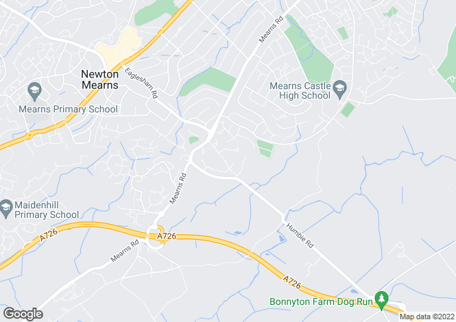 Map for Melodie, Old Humbie Road, Newton Mearns, G77 5DF