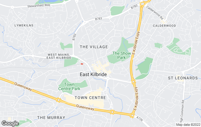 Map for Angel Homes, East Kilbride, Glasgow