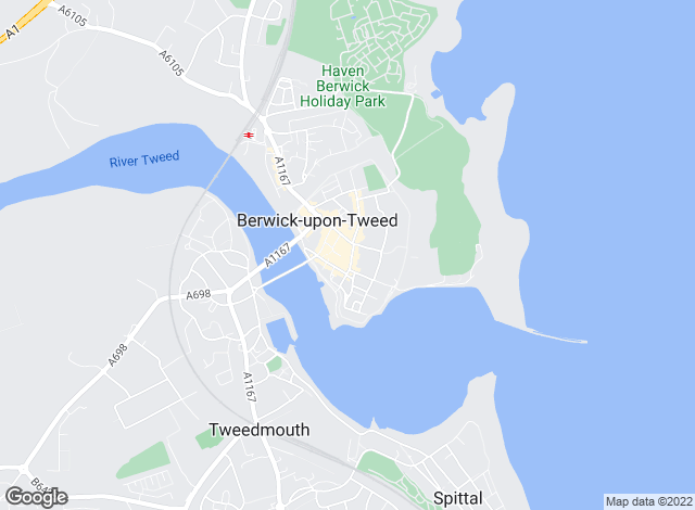 Map for Rettie & Co , Berwick upon Tweed