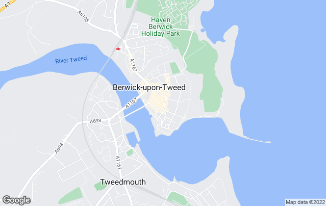 Map for Edwin Thompson, Berwick-Upon-Tweed