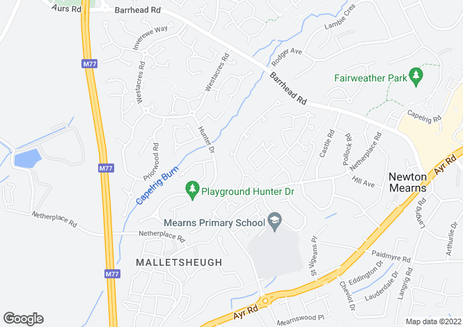 Map for Mallots View, Newton Mearns
