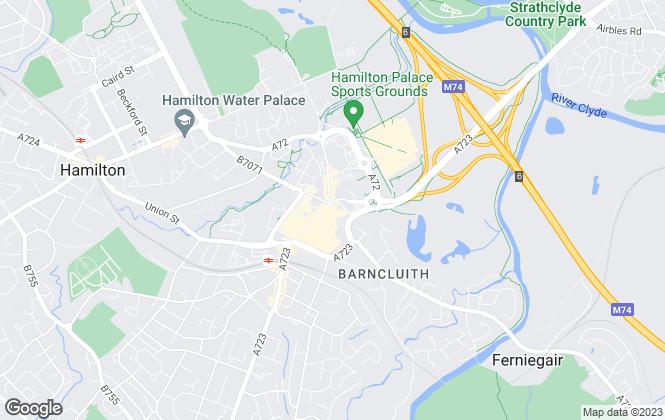 Map for Lets Move U, Hamilton