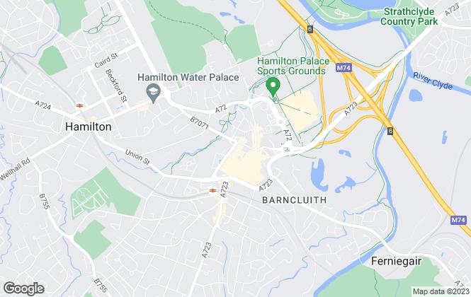 Map for Blackwells, Hamilton, East Kilbride