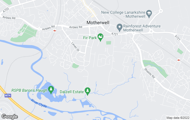 Map for Upload Abode, Motherwell