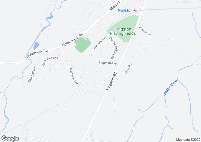 Map for Glen Shee Avenue, Neilston
