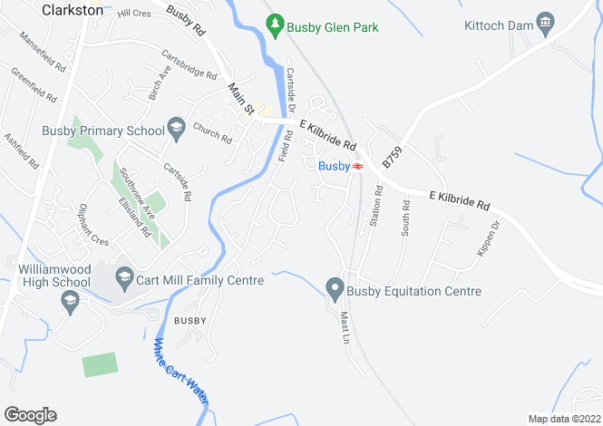 Map for Woodyett Road, Busby
