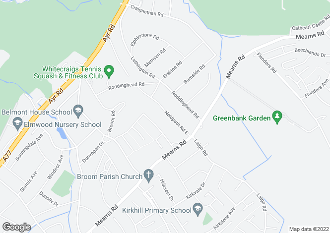 Map for Chessington, 15 Neidpath Road East, Giffnock, Glasgow, G46 6TX