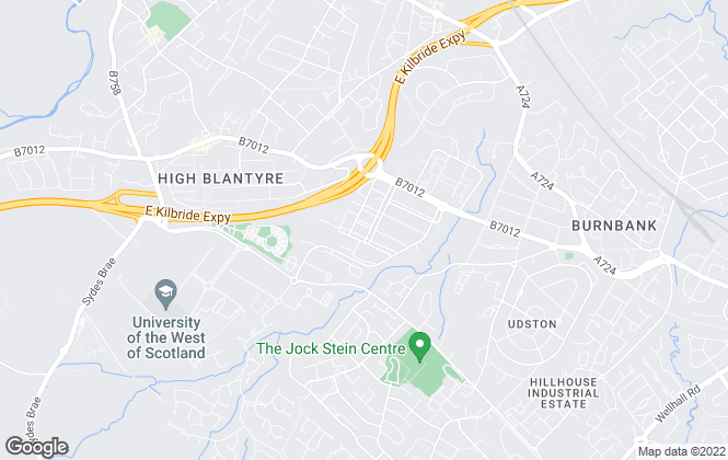 Map for FLEXSPACE, Glasgow Blantyre