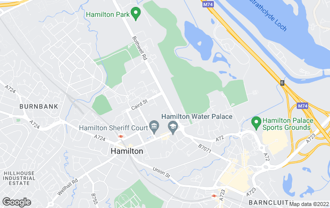 Map for Whyte & Barrie Chartered Surveyors, Hamilton