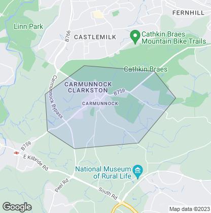 Map of property in Carmunnock