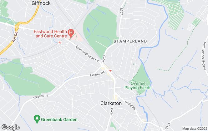Map for Allen & Harris, Clarkston Glasgow
