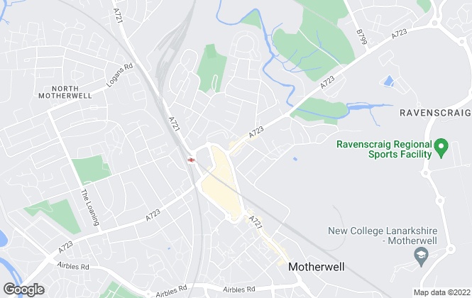 Map for Love Homes, Motherwell