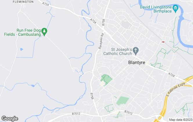 Map for TFC Properties, Blantyre