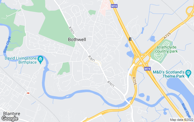 Map for Property Angels, Bothwell