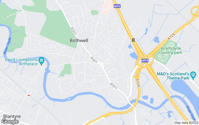 Map for Property Angels Estate Agents, Bothwell