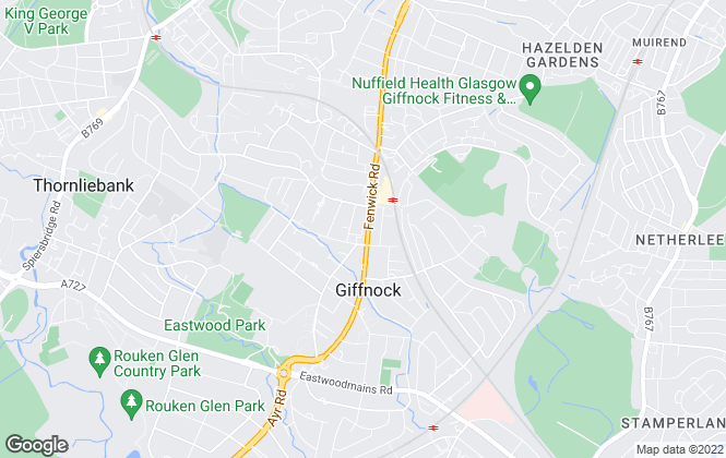 Map for Home Connexions, Giffnock