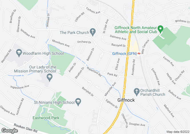 Map for Park Court, Giffnock, Glasgow G46