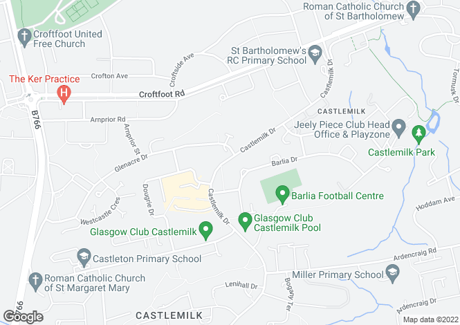 Map for Castlemilk Drive, Castlemilk, Glasgow