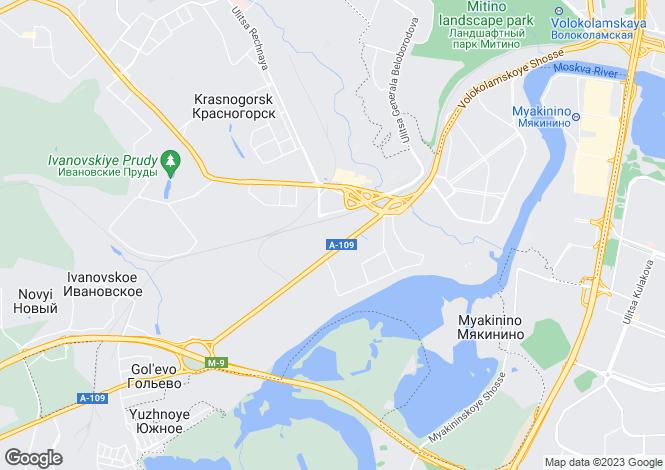 Map for Moskovskaya Oblast`, Krasnogorsk