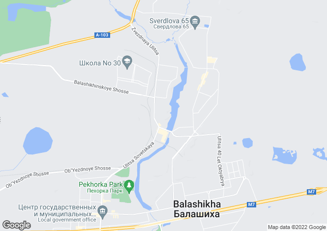 Map for Moskovskaya Oblast`, Balashikha