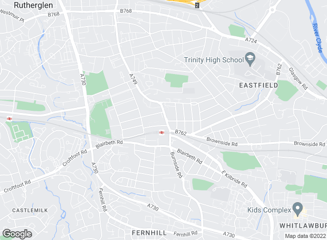 Map for 1 Estate Agents, Glasgow