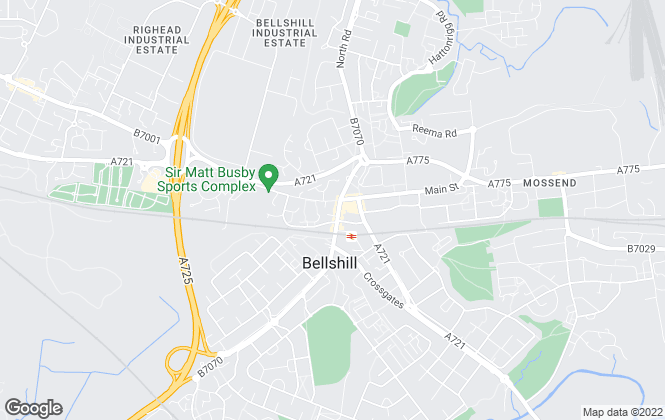 Map for Paul Fox Properties, Bellshill