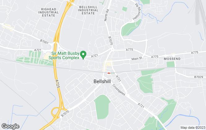 Map for Paul Fox Properties, Bellshill