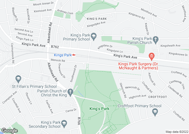 Map for Menock Road, Kings Park
