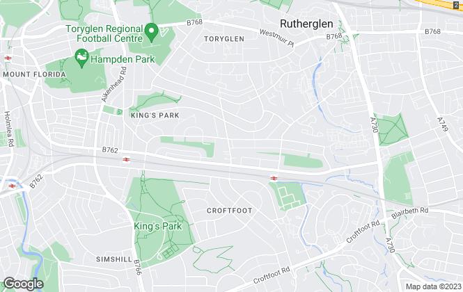 Map for AVJ Homes, Glasgow