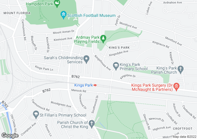 Map for Kingussie Drive, Glasgow