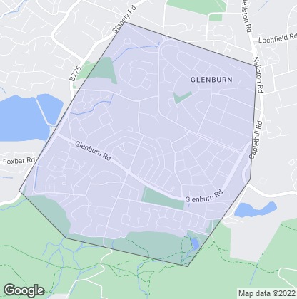 Map of property in Glenburn