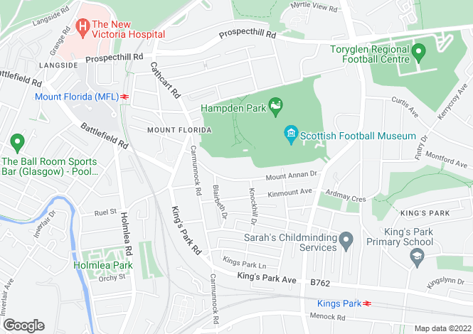 Map for Norfield Drive, Mount Florida