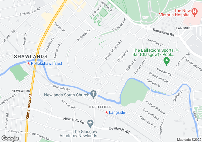 Map for Rawcliffe Gardens , Langside, G41 3DA