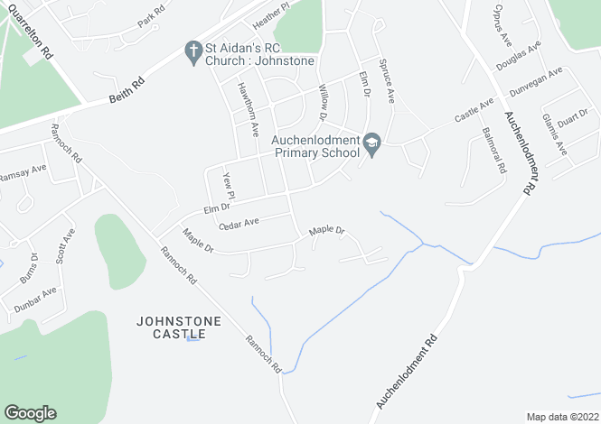 Map for Sycamore Avenue, Johnstone Castle