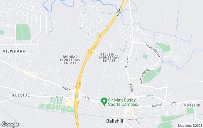Map for FLEXSPACE, Glasgow Bellshill