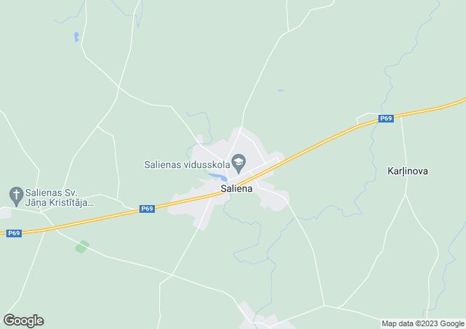 Map for Riga Region, Saliena