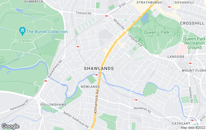 Map for Corum, shawlands