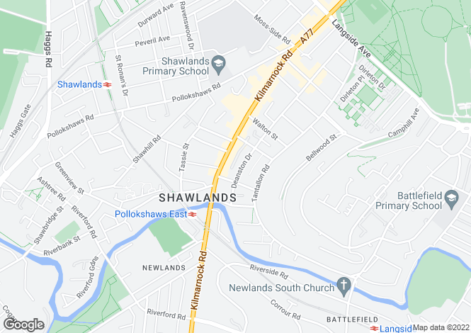 Map for Deanston Drive,Shawlands,GLASGOW,Lanarkshire,G41 3JU,Scotland