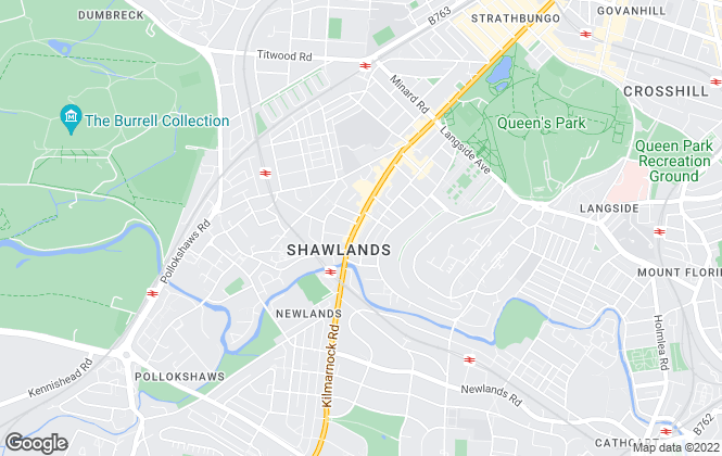 Map for Slater Hogg & Howison, Shawlands, Glasgow