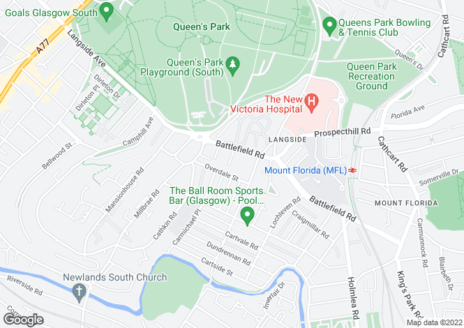 Map for Overdale Gardens,