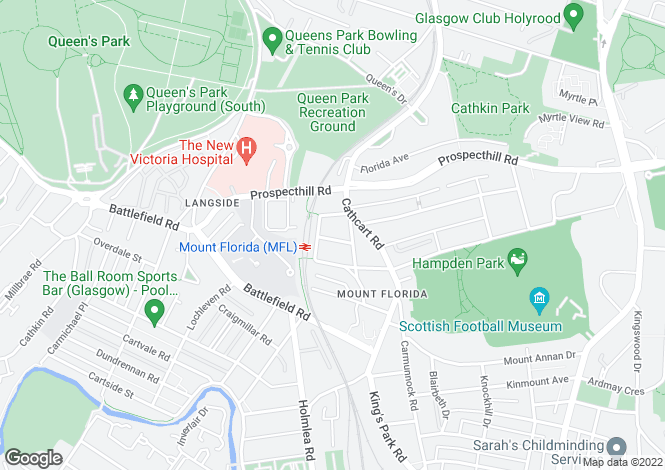 Map for Florida Street, Mount Florida, G42
