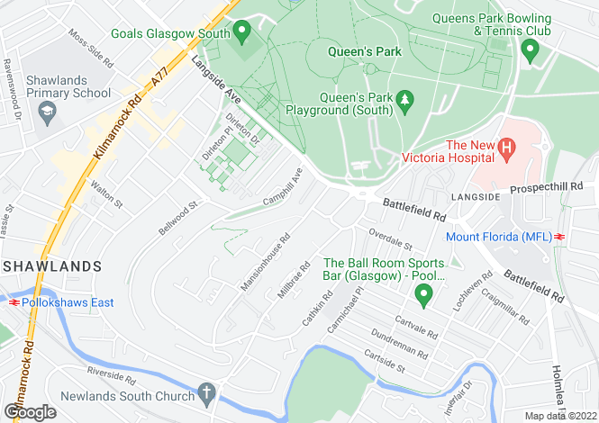 Map for Apartment 3 Rawcliffe House, Rawcliffe Gardens, 29 Mansionhouse Road, Langside, G41 3DN