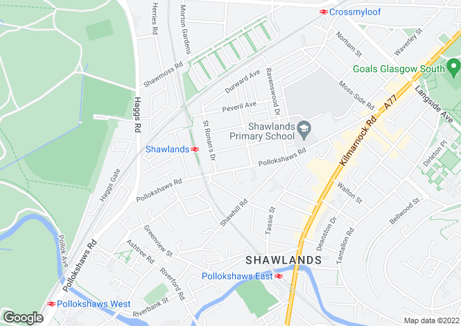 Map for 1384 Pollokshaws Road, Waverley Park, G41 3SB