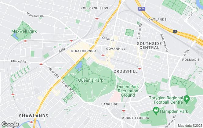 Map for Walker Wylie Estate Agents, Glasgow