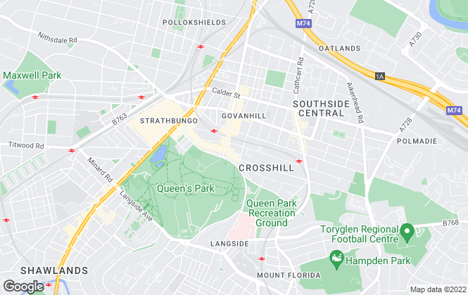Map for G4 Properties, Glasgow