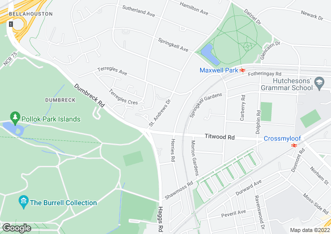 Map for 'Mar Lodge', 101 St Andrews Drive, Pollokshields, G41 4RA