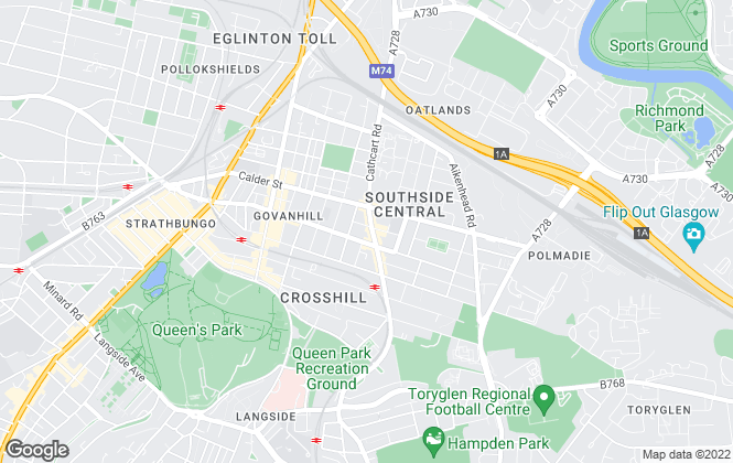 Map for Aaron Property Management & Letting, Glasgow