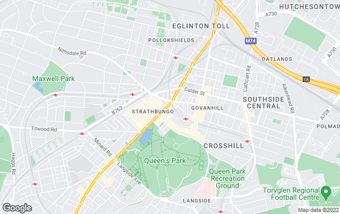 Map for Personal Letting Ltd., Glasgow